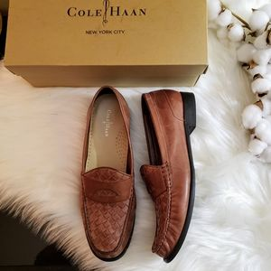 Cole Haan | 9.5 Laurel woven penny loafer sequoia
